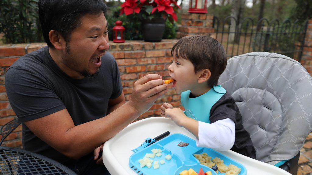 toddler eating